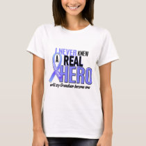 Never Knew A Hero 2 Grandson Prostate Cancer T-Shirt