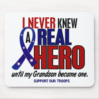 Never Knew A Hero 2 Grandson (Support Our Troops) Mouse Pad