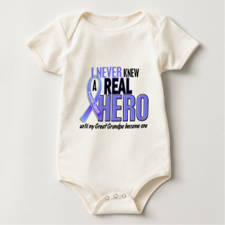Never Knew A Hero 2 Great Grandpa Prostate Cancer Baby Bodysuit