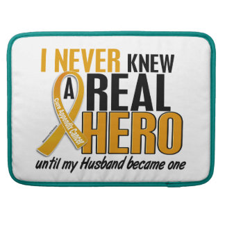 Never Knew a Hero 2 Husband Appendix Cancer MacBook Pro Sleeves