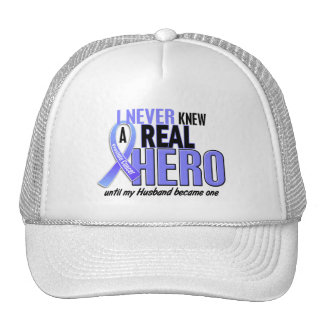 Never Knew A Hero 2 Husband Prostate Cancer Trucker Hats