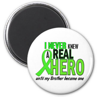 Never Knew A Hero 2 LIME GREEN (Brother) 2 Inch Round Magnet