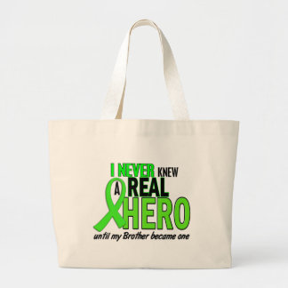 Never Knew A Hero 2 LIME GREEN (Brother) Canvas Bag