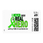 Never Knew A Hero 2 LIME GREEN (Father-In-Law) Stamps
