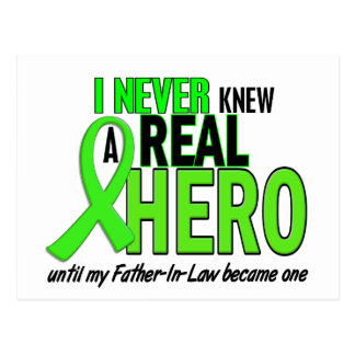 Never Knew A Hero 2 LIME GREEN (Father-In-Law) Postcard