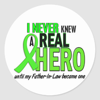 Never Knew A Hero 2 LIME GREEN (Father-In-Law) Classic Round Sticker