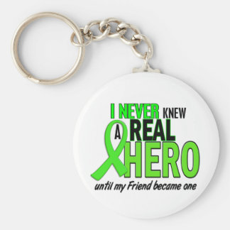 Never Knew A Hero 2 LIME GREEN (FRIEND) Basic Round Button Keychain