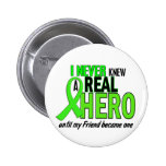 Never Knew A Hero 2 LIME GREEN (FRIEND) Pinback Buttons
