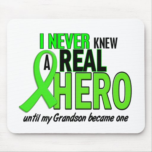 Never Knew A Hero 2 LIME GREEN (Grandson) Mouse Pad