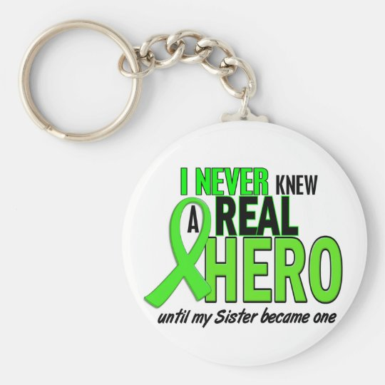 Never Knew A Hero 2 LIME GREEN (Sister) Keychain