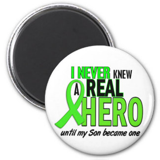 Never Knew A Hero 2 LIME GREEN (Son) 2 Inch Round Magnet