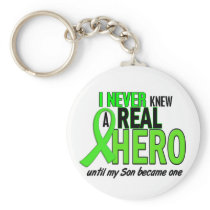 Never Knew A Hero 2 LIME GREEN (Son) Keychain