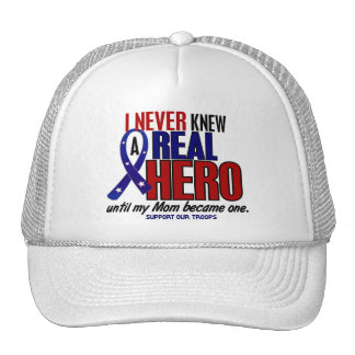 Never Knew A Hero 2 Mom (Support Our Troops) Hats