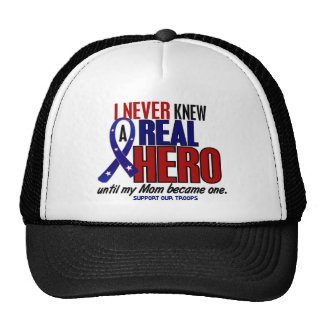 Never Knew A Hero 2 Mom (Support Our Troops) Trucker Hat