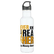 Never Knew a Hero 2 Mommy Appendix Cancer Water Bottle