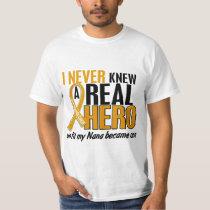 Never Knew a Hero 2 Nana Appendix Cancer T-Shirt