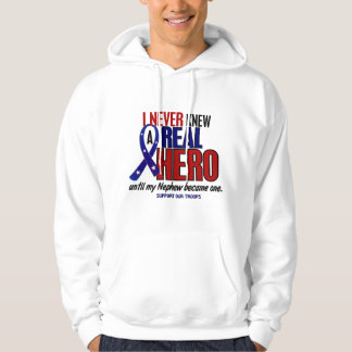 Never Knew A Hero 2 Nephew (Support Our Troops) Hooded Pullover