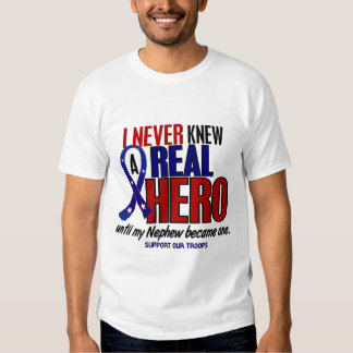 Never Knew A Hero 2 Nephew (Support Our Troops) T-shirt