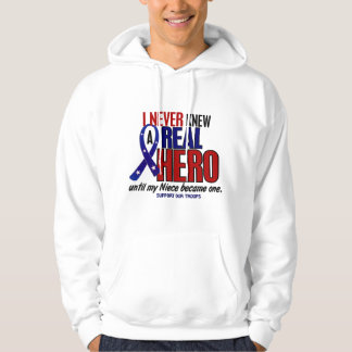 Never Knew A Hero 2 Niece (Support Our Troops) Hoodie