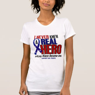 Never Knew A Hero 2 Niece (Support Our Troops) T-Shirt