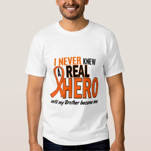 Never Knew A Hero 2 ORANGE (Brother) Tees