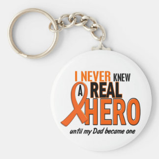 Never Knew A Hero 2 ORANGE (Dad) Keychain