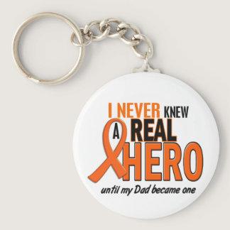 Never Knew A Hero 2 ORANGE (Dad) Keychain