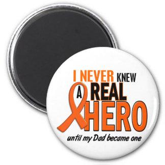 Never Knew A Hero 2 ORANGE (Dad) Magnet