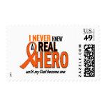 Never Knew A Hero 2 ORANGE (Dad) Stamp