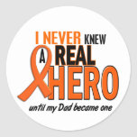 Never Knew A Hero 2 ORANGE (Dad) Stickers