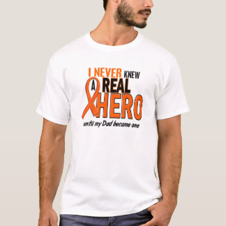Never Knew A Hero 2 ORANGE (Dad) T-Shirt