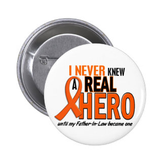 Never Knew A Hero 2 ORANGE (Father-In-Law) Button