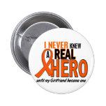 Never Knew A Hero 2 ORANGE (Girlfriend) Pin