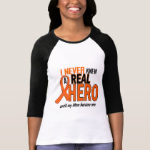 Never Knew A Hero 2 ORANGE (Mom) T-Shirt