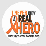 Never Knew A Hero 2 ORANGE (Sister) Classic Round Sticker