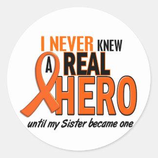 Never Knew A Hero 2 ORANGE (Sister) Classic Round Sticker