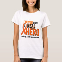 Never Knew A Hero 2 ORANGE (Sister) T-Shirt