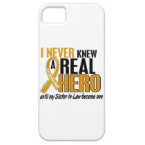Never Knew a Hero 2 Sister-In-Law Appendix Cancer iPhone SE/5/5s Case