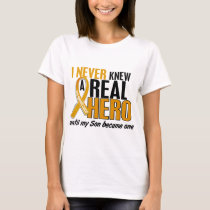 Never Knew a Hero 2 Son Appendix Cancer T-Shirt