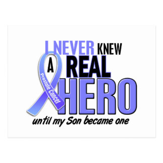 Never Knew A Hero 2 Son Prostate Cancer Postcard