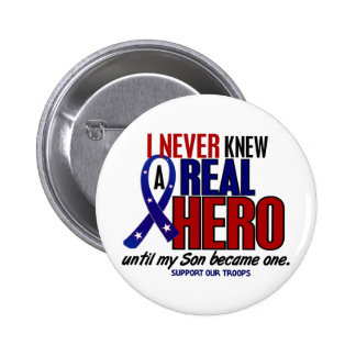 Never Knew A Hero 2 Son (Support Our Troops) 2 Inch Round Button