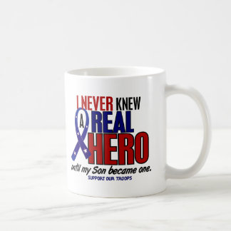 Never Knew A Hero 2 Son (Support Our Troops) Classic White Coffee Mug