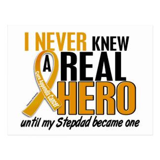 Never Knew a Hero 2 Stepdad Appendix Cancer Postcard