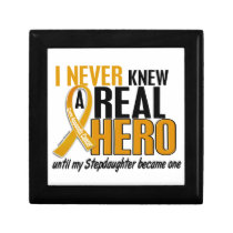 Never Knew a Hero 2 Stepdaughter Appendix Cancer Jewelry Box