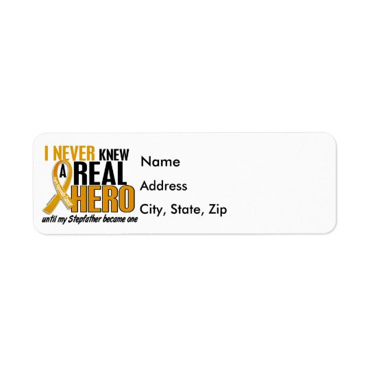 Never Knew a Hero 2 Stepfather Appendix Cancer Label