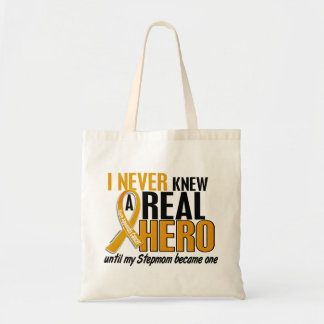Never Knew a Hero 2 Stepmom Appendix Cancer Tote Bag