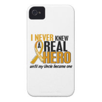 Never Knew a Hero 2 Uncle Appendix Cancer Case-Mate iPhone 4 Case