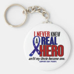 Never Knew A Hero 2 Uncle (Support Our Troops) Key Chain