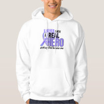Never Knew A Hero Dad Esophageal Cancer Hooded Pullover