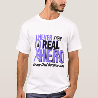 Never Knew A Hero Dad Esophageal Cancer T-Shirt